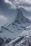 Zermatt Svizzera del Cervino della montagna Fotografie Stock