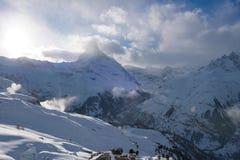 Zermatt Svizzera del Cervino della montagna Fotografia Stock Libera da Diritti