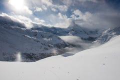 Zermatt Svizzera del Cervino della montagna Immagine Stock Libera da Diritti