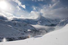 Zermatt Svizzera del Cervino della montagna Fotografia Stock