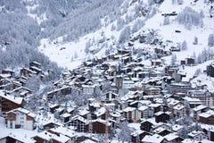 Zermatt Svizzera del Cervino della montagna Fotografie Stock Libere da Diritti