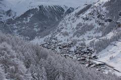 Zermatt Svizzera del Cervino della montagna Immagini Stock