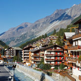 Zermatt, Switzerland. The famous ski resort town in the Swiss Alps at the base of the Matterhorn royalty free stock images
