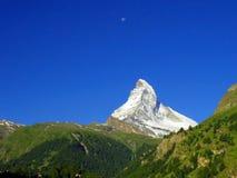 Zermatt Switzerland, green car-free city Matterhorn view Stock Image