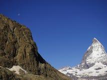 Zermatt Switzerland, green car-free city Matterhorn view Royalty Free Stock Photo