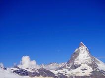 Zermatt Switzerland, green car-free city Matterhorn view Stock Photos