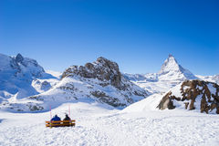 Zermatt, switzerland, matterhorn, ski resort Stock Photos
