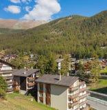 View in the town of Zermatt, Switzerland royalty free stock photo