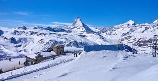 Zermatt Switzerland is a very popular ski resort in Europe lyi Stock Photography