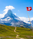 , Zermatt, Switzerland. Walk way to Matterhorn, Zermatt, Switzerland Stock Photos