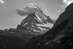 Zermatt, Szwajcaria - Ikonowa góra Matterhorn zdjęcie royalty free