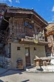 ZERMATT SZWAJCARIA, PAŹDZIERNIK, - 27, 2015: Zadziwiający widok Zermatt kurort, Szwajcaria Fotografia Stock