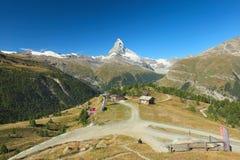 Zermatt, Matterhorn, Sunnegga,. Zermatt, view of the Matterhorn, Valais, Switzerland stock images