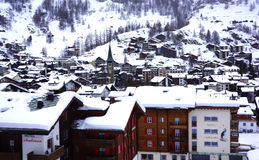 Zermatt Village from Above Royalty Free Stock Photo