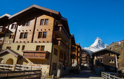 Zermatt Village with Matterhorn in the background, Switzerland Royalty Free Stock Photography