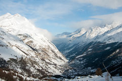Zermatt - village in Swiss Alps, Switzerland Stock Photos