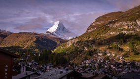 Zermatt village view Royalty Free Stock Image