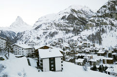 Zermatt village in winter Stock Photo