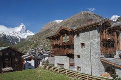 Zermatt, Zwitserse Hotels Switzerland stock afbeeldingen