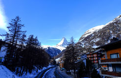 Zermatt, Zwitserse Hotels Switzerland Royalty-vrije Stock Foto