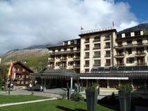 Zermatterhof hotell i Zermatt, Schweiz Royaltyfri Bild