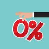 Zero вектор интереса процентов Стоковое Изображение