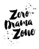 Zero зона драмы Стоковое Изображение