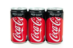 Zero кока-кола сахара Стоковые Фото