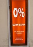 Zero комиссия процентов Стоковые Изображения