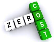 Zero концепция цены бесплатная иллюстрация
