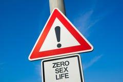 Zero половая жизнь Стоковая Фотография RF