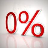 Zero проценты Стоковое Изображение RF