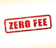 Zero штемпель текста гонорара Стоковая Фотография RF