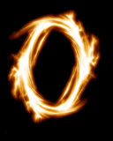 Zero. Number zero on a solid black background Royalty Free Stock Images