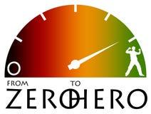 Zero ao herói Imagem de Stock