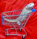Zero Brodaty w wózek na zakupy zdjęcia stock
