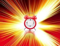 Zero clock. Zero red clock time with path Stock Photo