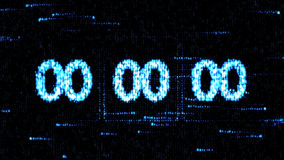 Zero countdown. The countdown on the computer screen. Clocks are set at 00:00 starting a new countdown. The countdown on the computer screen. Clocks are set at Stock Image