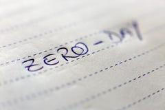 Zero Day Stock Photography