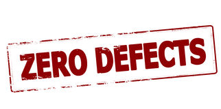 Zero defects. Rubber stamp with text zero defects inside, vector illustration Stock Photography
