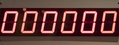 Zero Digital Number Board Stock Images