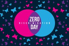 Zero Discrimination Day Illustration with butterfly vector illustration