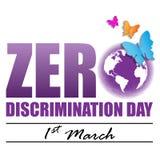 Zero Discrimination Day. On March 1 Background royalty free illustration