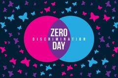 Zero dyskryminacja dnia ilustracji z motylem ilustracja wektor