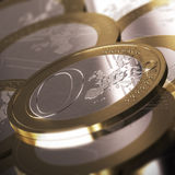 Zero Euro Coin Stock Photography