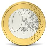 Zero euro ninety-nine coin from the front Stock Image