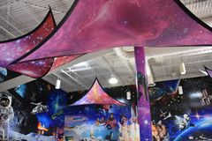 Zero-G Diner Food Court at Space Center Houston in Texas. USA royalty free stock photos