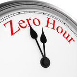 Zero hour on a clock Stock Image