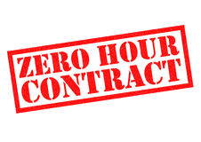 ZERO HOUR CONTRACT. Red Rubber Stamp over a white background Stock Photography