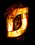 Zero, ilustração do número com efeitos do cromo e fogo vermelho o Imagem de Stock Royalty Free